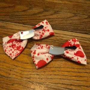 NWOT Halloween Hairbows with Fake Blood Stains
